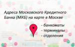 Адреса Московского Кредитного Банка (МКБ) в Москве: банкоматы, терминалы, отделения на карте