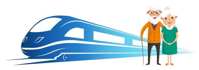 Пенсионеры и поезд