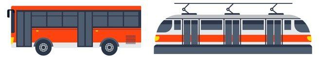 Автобус и трамвай